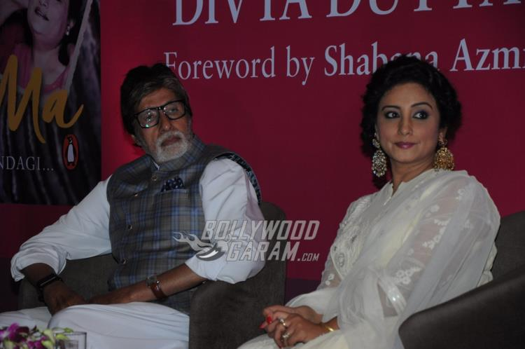 Amitabh Bachchan and Divya Dutta at Me and Ma book launch event
