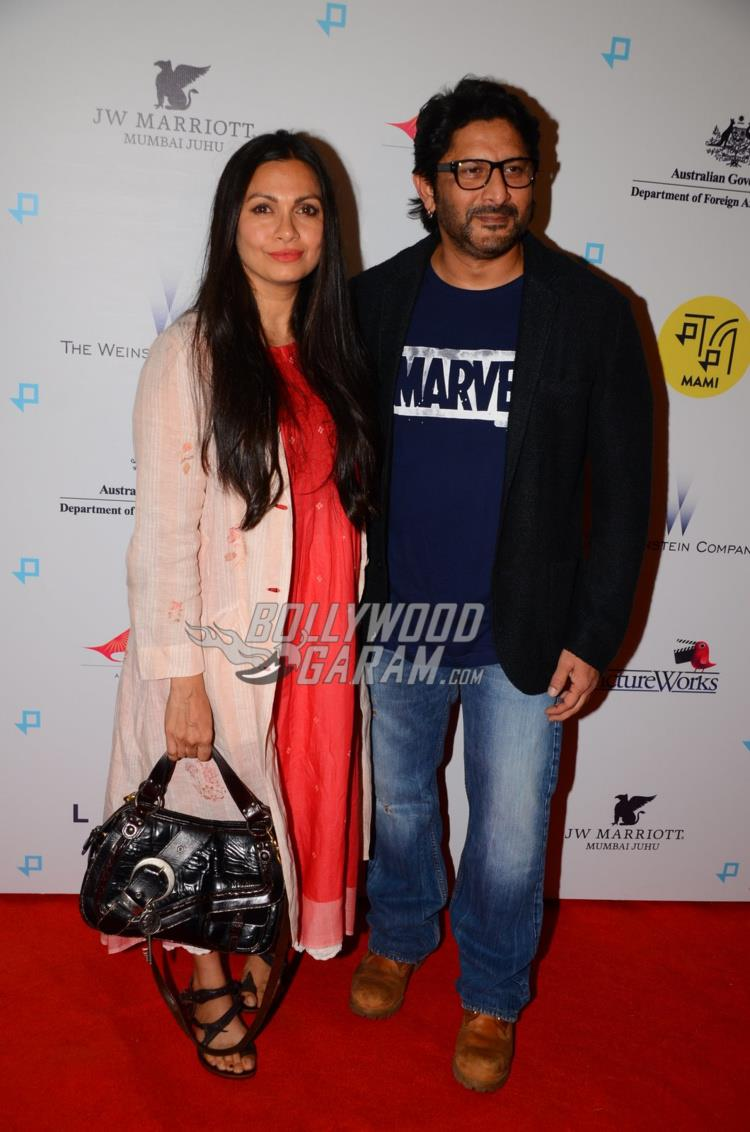 Maria and Arshad Warsi at Lion Premiere in India
