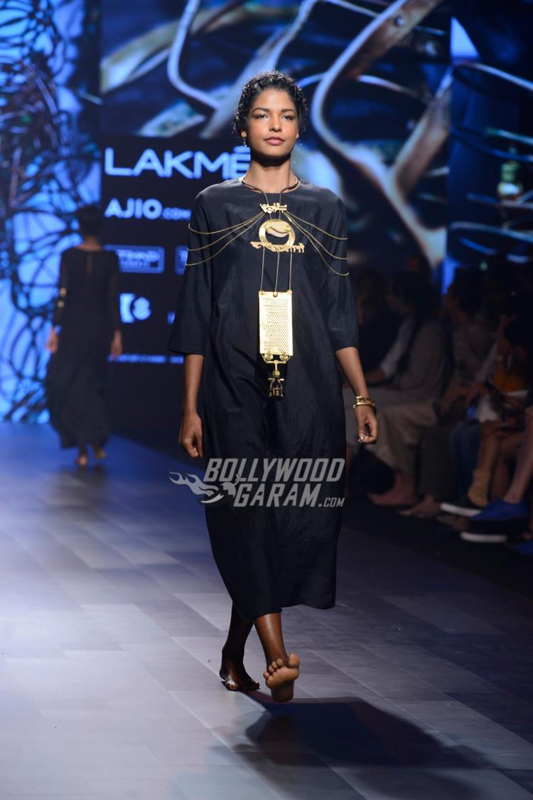 A Model walks the ramp at Lakme Fashion Week Summer Resort 2017