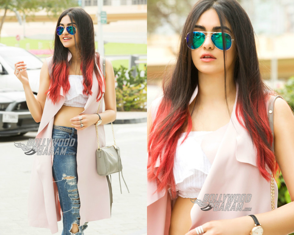 Adah Sharma Turns Up The Heat At Burj Khalifa Dubai Photos