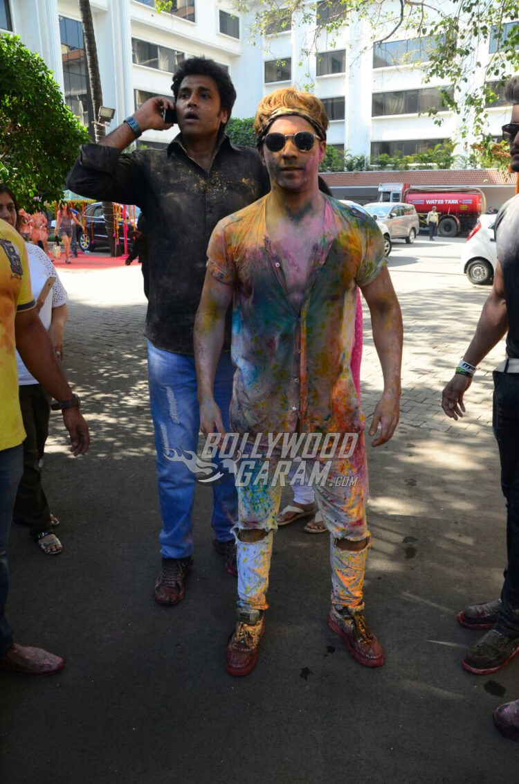 Varun Dhawan at Vineet Jain's Holi Bash