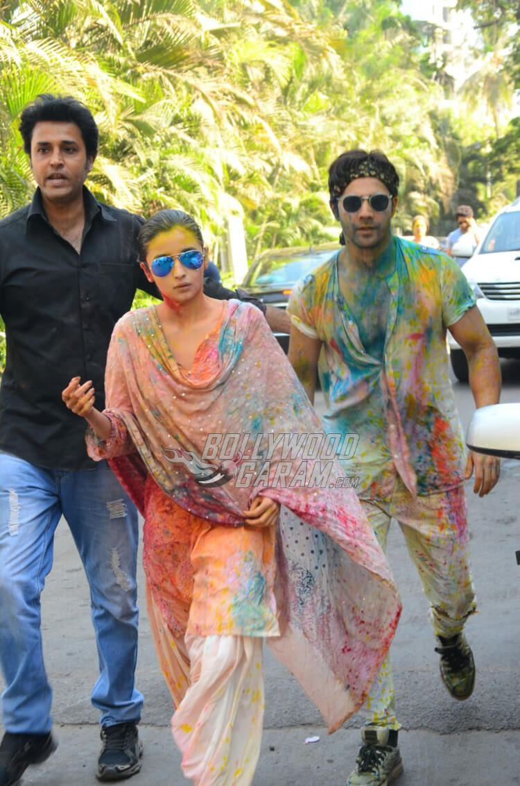 Alia Bhatt and Varun Dhawan at Vineet Jain's Holi Bash