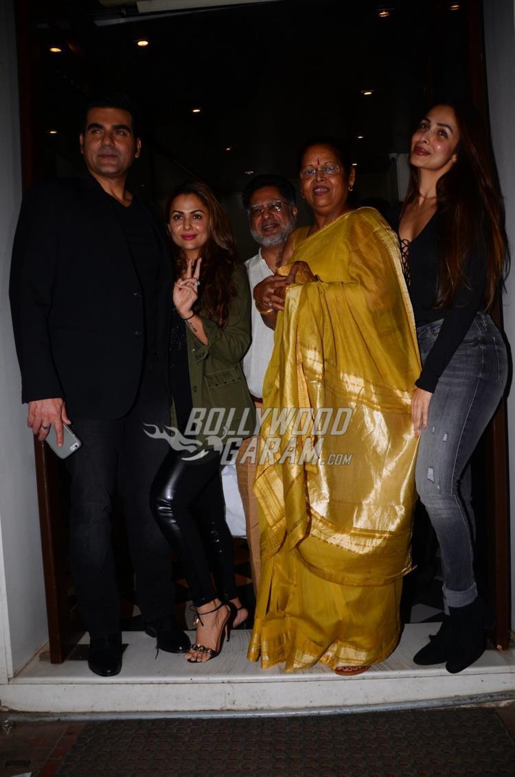 Arbaaz Khan poses with Arora family