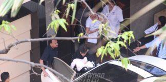 Sidharth Malhotra and Varun Dhawan drop in at Karan Johar's house to see his twins!