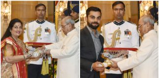 Padma Shri Award for Virat Kohli and singer Anuradha Paudwal – Photos
