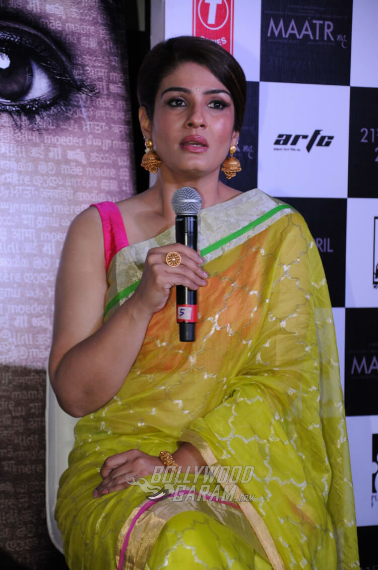 raveena tandon launches maatrs official movie trailer