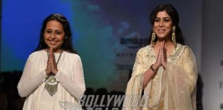 Sakshi Tanwar Turns Showstopper for Anju Modi at Amazon India Fashion Week 2017 – Photos