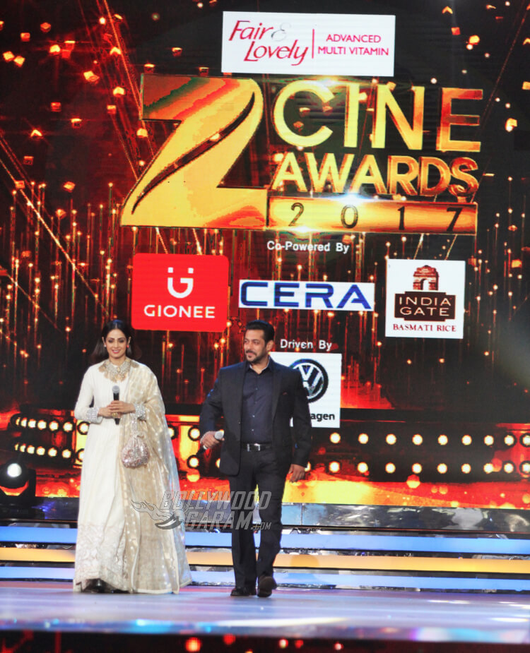 Sridevi MOM official movie poster lauched at Zee Cine Awards 2017