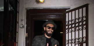 Ranveer Singh snapped at dubbing studio in Mumbai – Photos