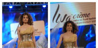 Gorgeous Kangana Ranaut launches Liva Crème fabric at fashion show – Photos