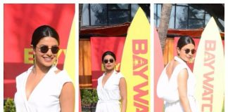 Priyanka Chopra sizzle at Baywatch promotions in Mumbai – Photos