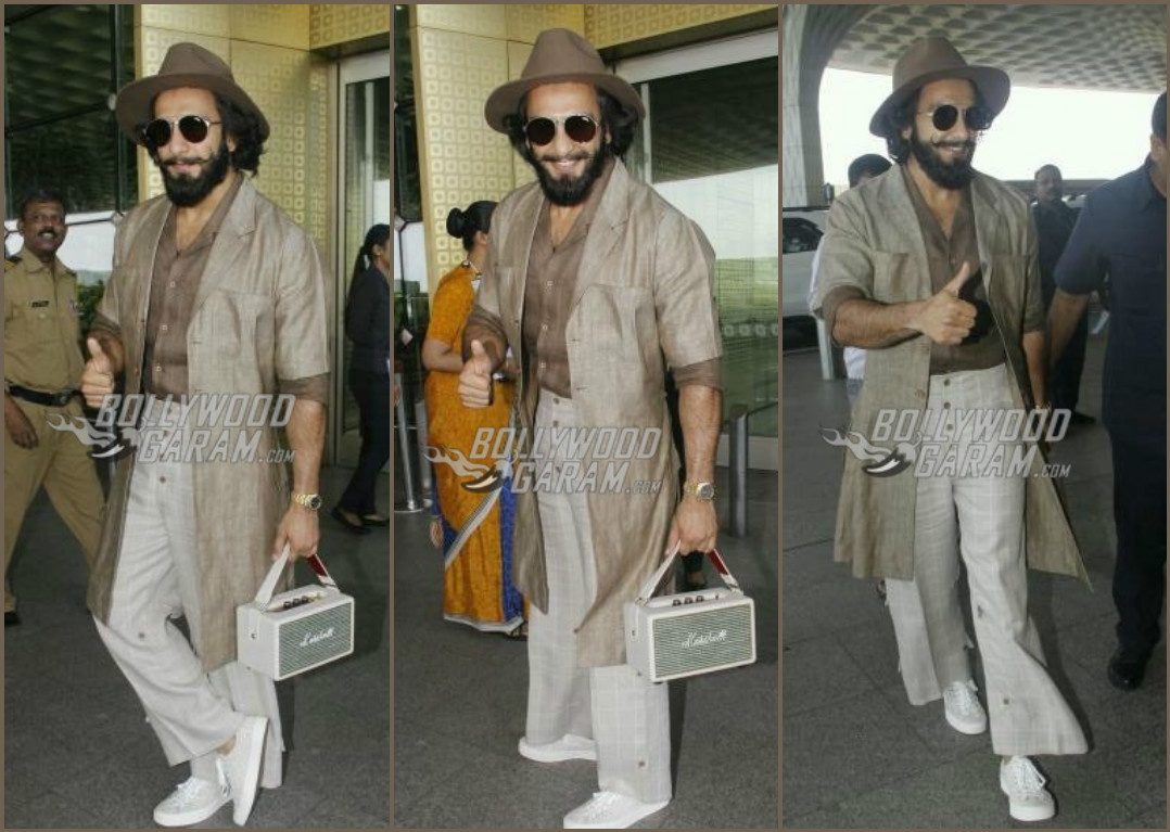 Ranveer Singh make a splash at Mumbai Airport with his quirky fashion!