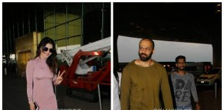 Rohit Shetty and Urvashi Rautela jazz up their airport look!