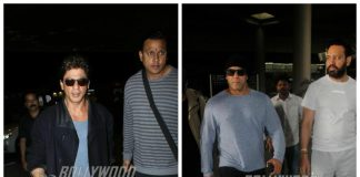 Salman Khan and Shah Rukh Khan carry on their superstar power to the airport