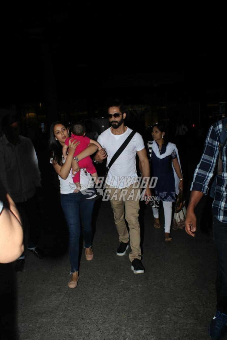 Misha with Mira Rajput and Shahid Kapoor