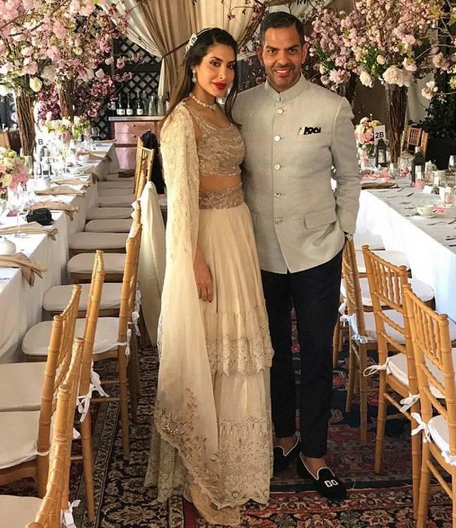 Sunjay Kapoor and Priya Sachdev reception