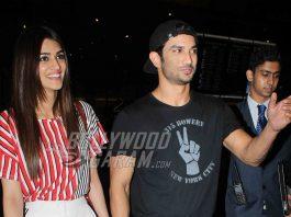 PHOTOS – Raabta co-stars Sushant Singh Rajput and Kriti Sanon spotted at Mumbai airport