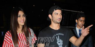 PHOTOS – Raabta co-stars Sushant Singh Rajput and Kriti Sanon spotted at Mumbai airport