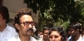 Aamir Khan, Kiran Rao offer condolences at Reema Lagoo's funeral – Photos