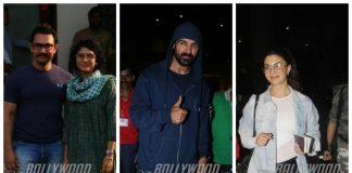 Airport fashion – Aamir Khan, Kiran Rao, John Abraham, Jacqueline spotted!