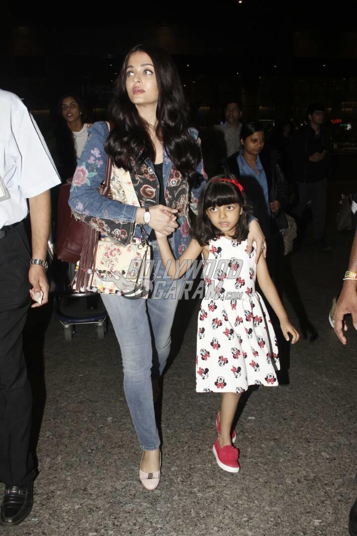 Aishwarya Rai and Aaradhya Bachchan