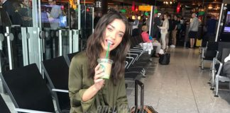 Amy Jackson spotted on way to Cannes International Film Festival 2017