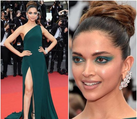 Deepika's final look at Cannes 2017 red carpet, Day 2 – A stunning teal slit gown!