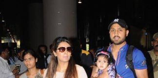 Airport Gallery – Harbhajan Singh and Geeta Basra make a trendy appearance!