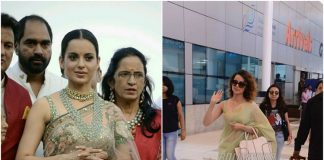 Kangana Ranaut returns to the city after her visit to the Ganges