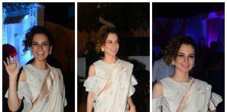 Kangana Ranaut elegantly rocked her saree with a twist