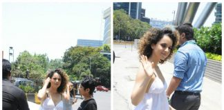 Kangana Ranaut in a cool summery look at Facebook office – Photos!
