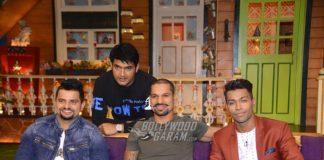 Suresh Raina, Hardik Pandya, Shikhar Dhawan shoot for The Kapil Sharma Show! Photos