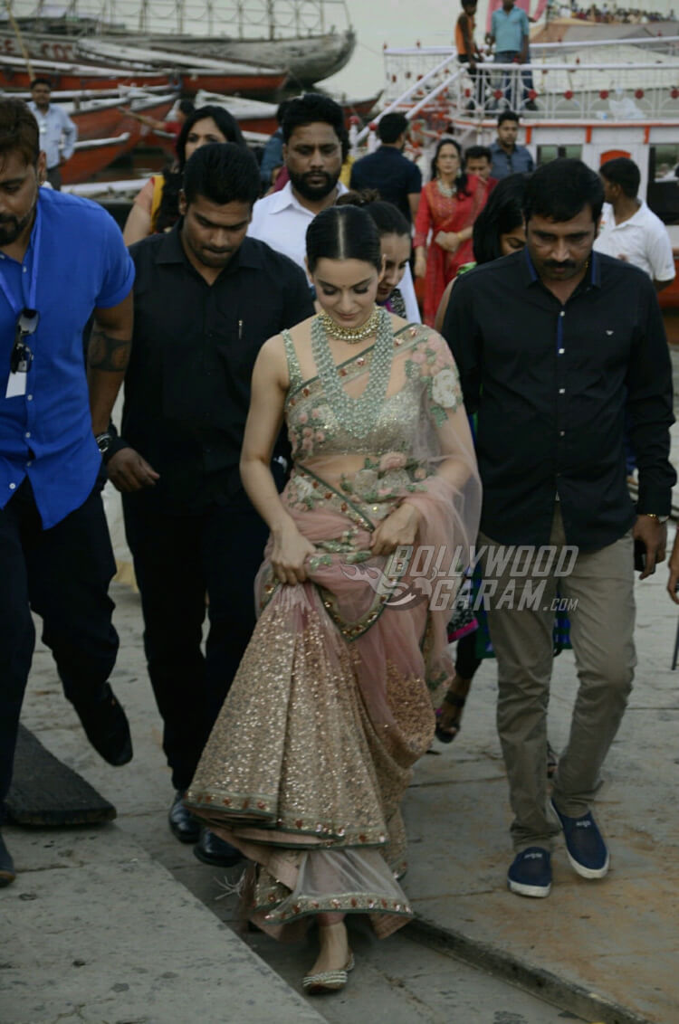 Kangana Ranaut in Varanasi for Manikarnika poster launch