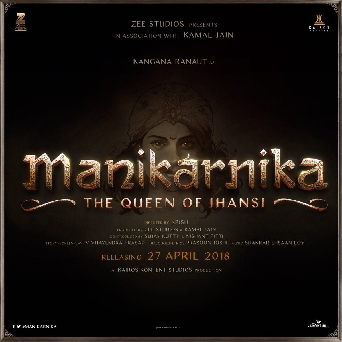 First Look Poster: Krish & Kangana's Manikarnika