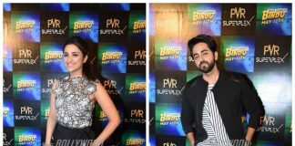 Parineeti Chopra, Ayushmann Khurrana promote Meri Pyaari Bindu in Noida – Photos