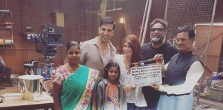 Akshay Kumar, Twinkle Khanna meet Arunachalam Muruganantham on PadMan sets!