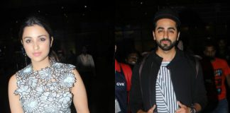 Photos – Ayushmann and Parineeti rock the monochrome airport look!