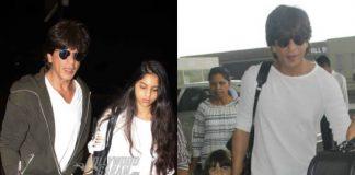 PHOTOS – Shah Rukh Khan bonds with AbRam and Suhana at airport