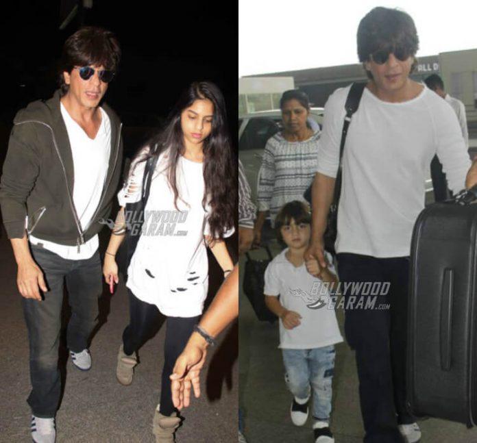 SRK-AbRam-Suhana-airport (1)