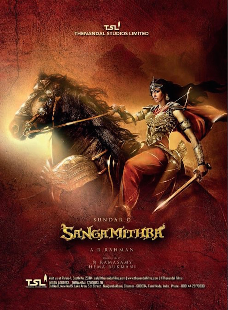 Sangamithra official poster - Shruti Haasan