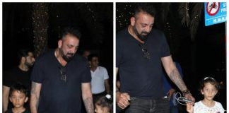 Sanjay Dutt spends quality time with Manyata and twins Iqra and Shahraan