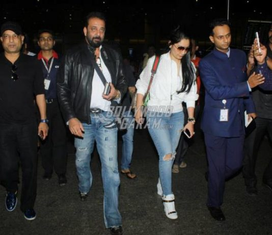 Sanjay Dutt and Manyata are #CoupleGoals with their airport looks