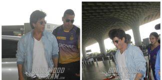 Shah Rukh Khan leaves for Kolkata Knight Riders IPL match at Bengaluru