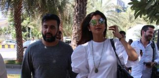 Photos – Shilpa Shetty and Raj Kundra out on a lunch date