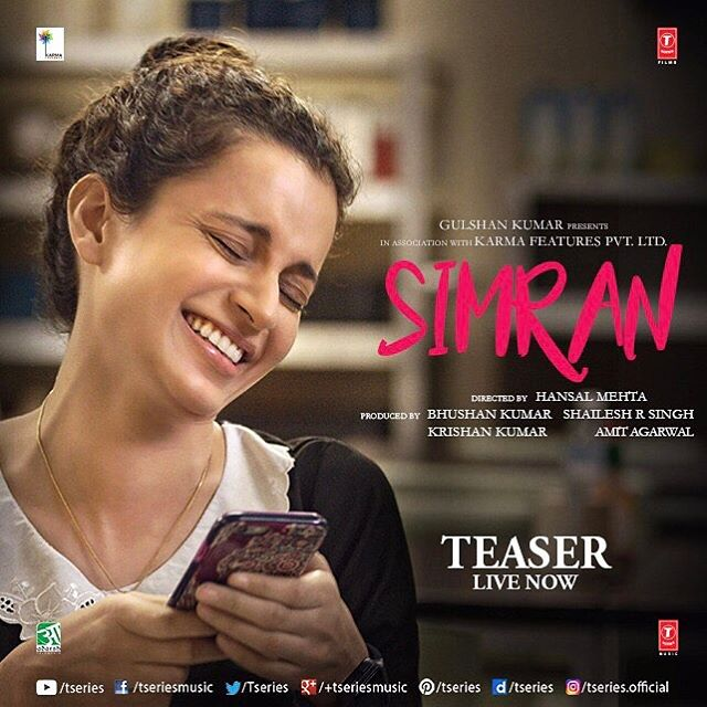 Simran teaser trailer is out