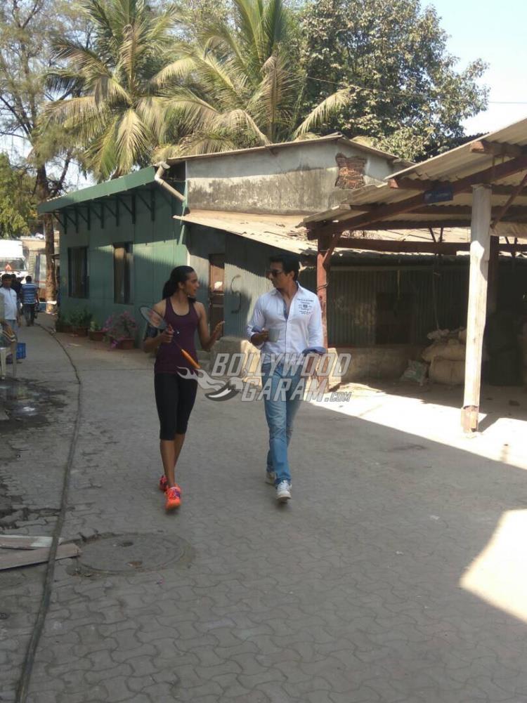 Sonu Sood and PV Sindhu