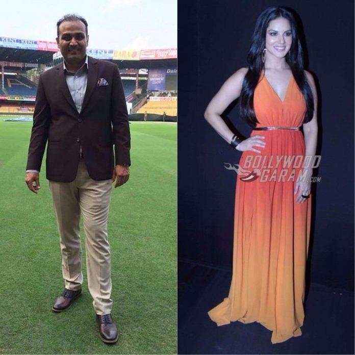 Sunny Leone Virender Sehwag