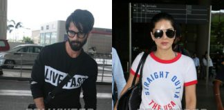 Shahid Kapoor and Sunny Leone spotted at Mumbai airport! Photos