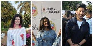Bollywood celebrities plant saplings at Bhamla Foundation event at Jogger's Park, Mumbai