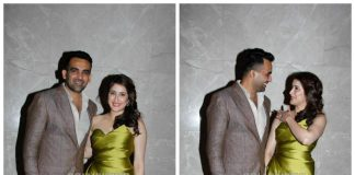 Zaheer Khan and Sagarika Ghatge are a gorgeous couple at their star-studded engagement bash
